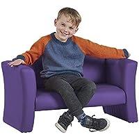 ECR4Kids SoftZone Gum Drop Upholstered Sofa for Kids - Daycare Homeschool Classroom Furniture Home Decor - Purple [並行輸入品]