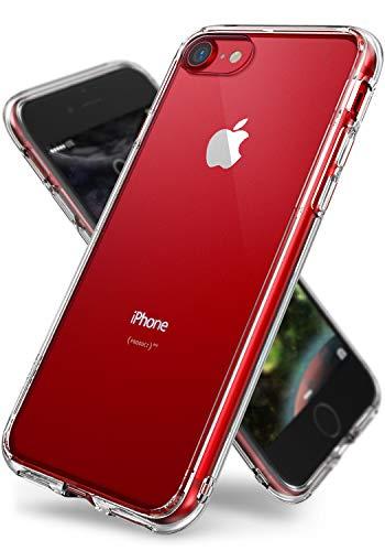 『【Ringke】iPhone 8 / iPhone 7 ケース 対応 コスパ最高 クリア 透明 落下防止 ストラップホール スマホケース [米軍MIL規格取得] TPU PC 二重構造 吸収耐衝撃カバー Qi充電対応 Fusion (Clear/クリア)』のトップ画像