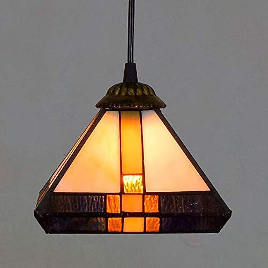 尊敬好み浪費シャンデリア ガラスのシャンデリアアイルバルコニーリビングルームベッドルームベッドサイドバーブラウンスクエアレトロな金属製の天井のランプ20x20x90cm TDHHY