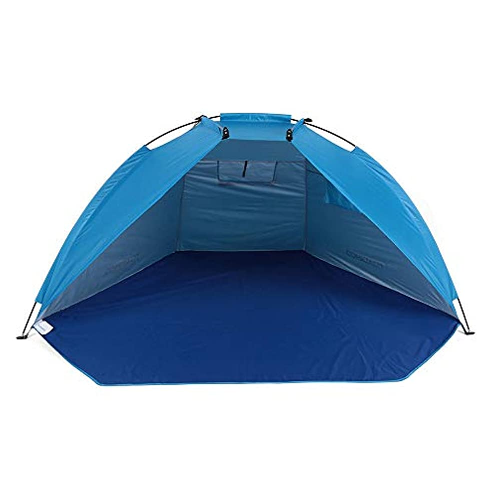 スクリュー高潔なポールアウトドアビーチテント、シェルターテント、シェードUVプロテクション超軽量テント、釣りピクニックパークアウトドアスポーツキャンプテント