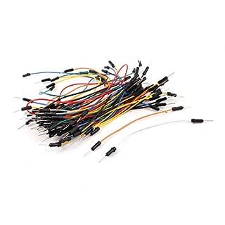 uxcell ジャンプワイヤ ブレッドボードワイヤー ジャンパ線 オスオス Arduino用 柔軟 はんだ不要 65個入り