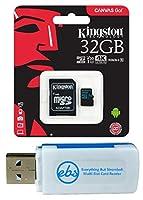 キングストンマイクロキャンバスGo! メモリーカードとアダプターバンドルはGoPro Hero 7 ブラック、シルバー、Hero7 ホワイトカメラ(SDCG2) Plus 1 Everything But Stromboli (TM) TFとSDカードリーダーに対応。