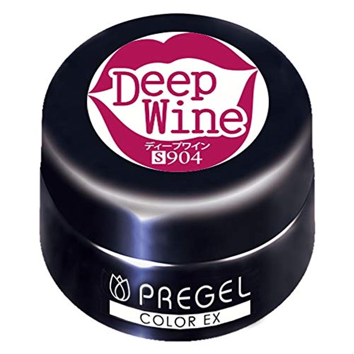 かなり消費著名なPRE GEL カラーEX ディープワイン 3g PG-CE904