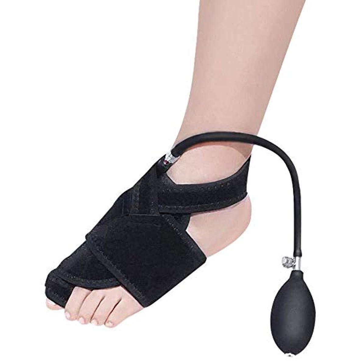 拮抗心配アスリートつま先セパレーター、左の膨脹可能なつま先変形足の親指矯正器および空気圧式整形外科用補助腱膜瘤手術の回復,Leftfoot