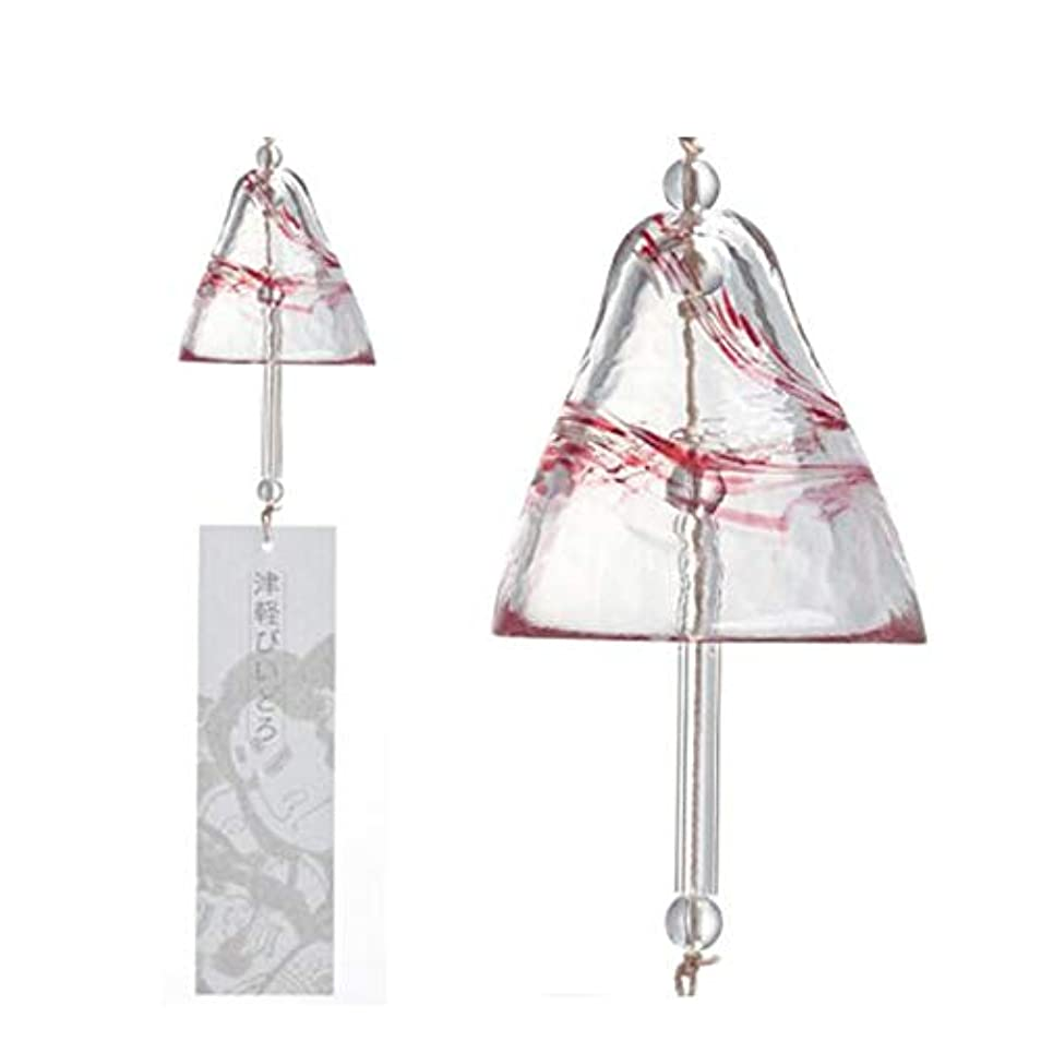 階層ガジュマル固執Chengjinxiang 風チャイム、クリスタルガラス風チャイム、ドア飾りペンダント、レッド、サイズ75x76mmハンギング,クリエイティブギフト (Color : Red)
