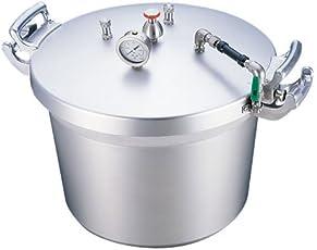 遠藤商事 業務用 業務用圧力鍋(第2安全装置付) 50リットル アルミニウム合金 日本製 AAT15050