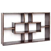 Xiuhua 本棚、モダンなミニマリストの壁の棚壁掛け本棚、背景の壁の装飾的なフレーム、棚収納ラックディスプレイスタンド 本棚 (Color : B)
