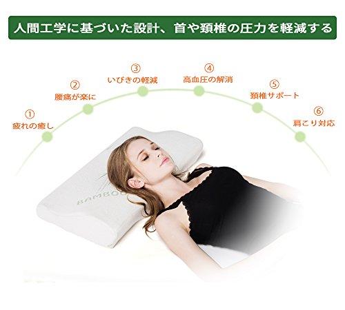 Adokoo 人間工学設計 頸椎・首・頭を支える健康枕 低反発 いびき防止 呼吸が楽 肩こり対策 頸椎サポート 頭痛改善 ストレス解消 最適な寝姿勢をキープ 快眠枕 ヘルスケア枕 洗濯可 通気まくら