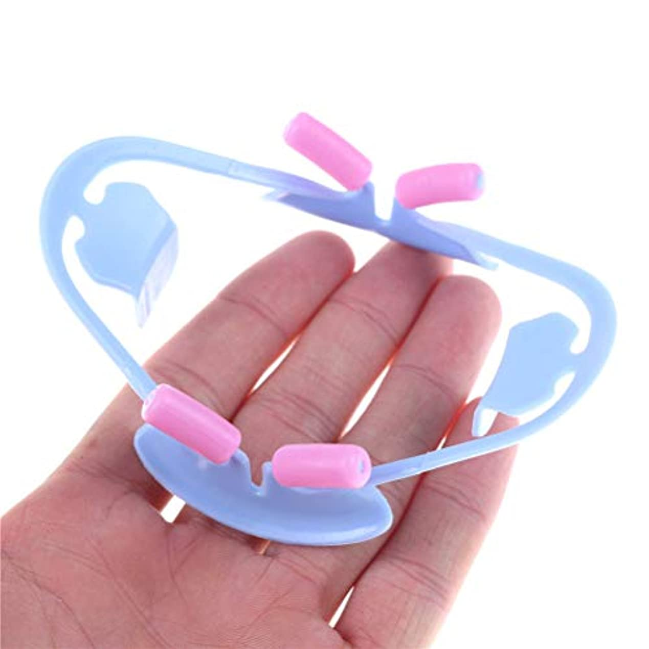 奇跡概して賞賛マウスオープナー リップリトラクター 歯科 開口器 3D 口腔ケア 矯正用 S/L (L-ブルー)