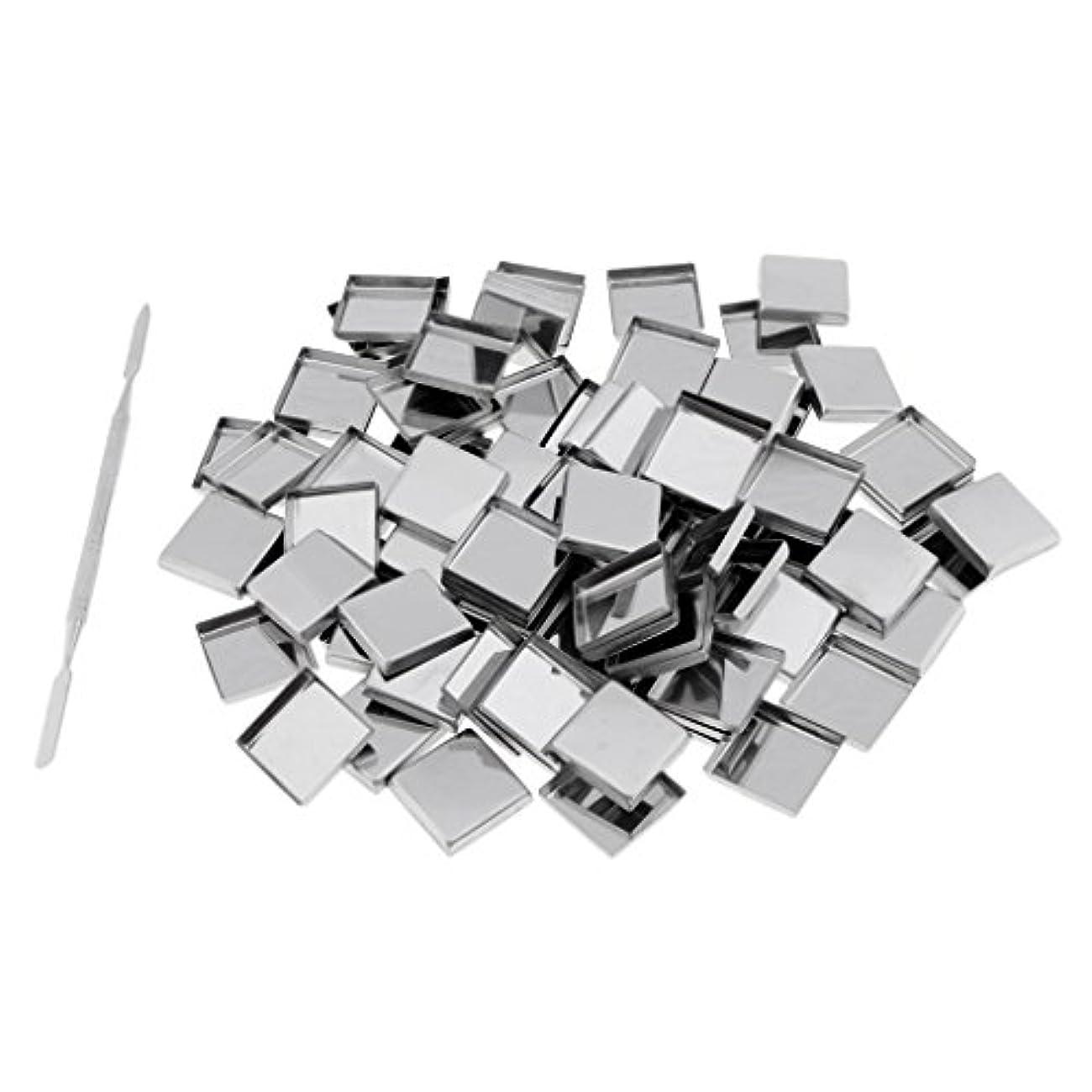 めったに哀促すPerfk 約100個 メイクアップパン 空パン スティック 金属棒  DIYプレス アイシャドウ/ブラッシュ/パウダー/クリーム コスメ DIY 2タイプ選べる  - スクエアパン