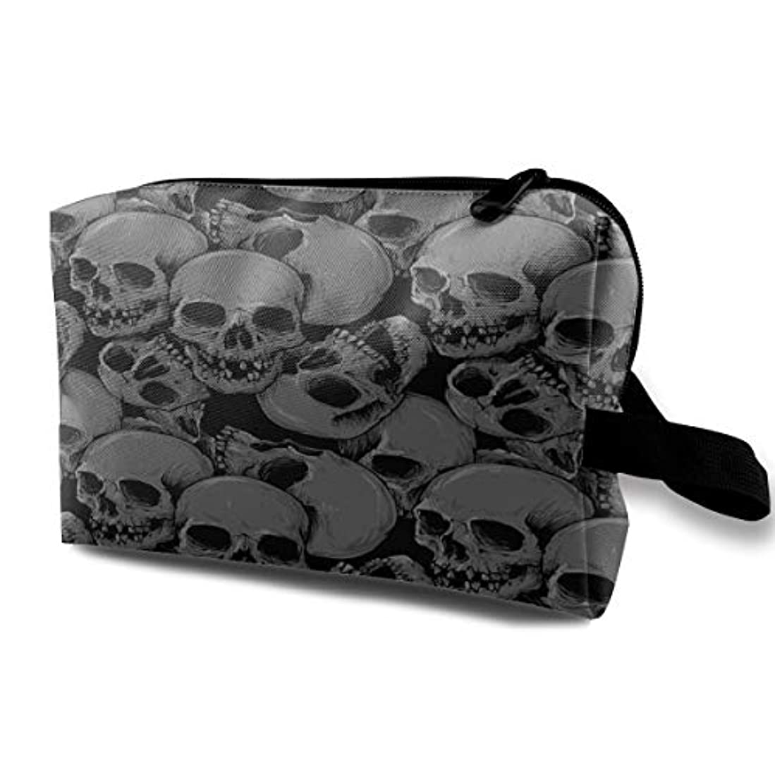 宣伝ダイアクリティカルレンダリングA Lot Of Skulls 収納ポーチ 化粧ポーチ 大容量 軽量 耐久性 ハンドル付持ち運び便利。入れ 自宅・出張・旅行・アウトドア撮影などに対応。メンズ レディース トラベルグッズ