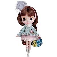 Dolly Para ブライス/リカちゃん/AZONES 羽付きイギリス風衣装セット 春夏ドレス オーダーメイド可 (ブライス)