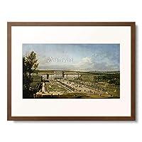 ベルナルド・ベッロット Bernardo Bellotto 「Schonbrunn Palace and gardens.」 額装アート作品