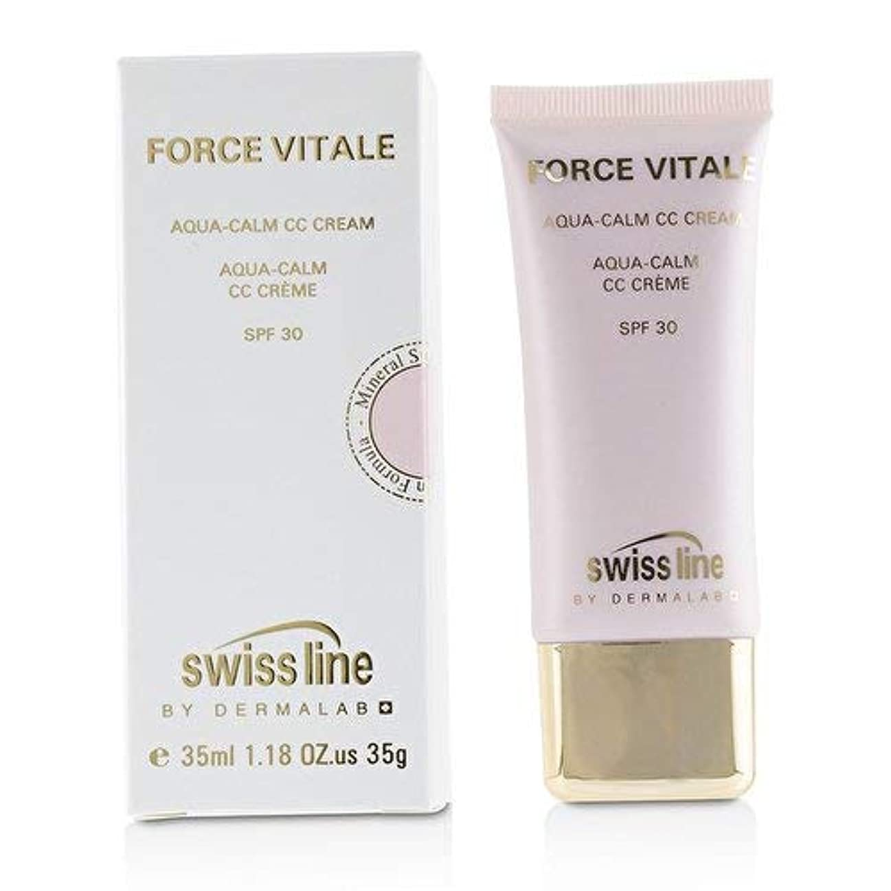レポートを書くメーカー雨のスイスライン Force Vitale Aqua-Calm CC Cream SPF30 - Beige 20 -並行輸入品