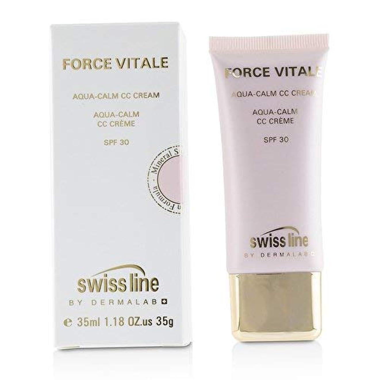 マイナス計算高速道路スイスライン Force Vitale Aqua-Calm CC Cream SPF30 - Beige 20 -並行輸入品