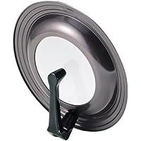 パール金属 ガラス窓付 立つ フライパン 鍋 蓋 24~28cm 用 シリコン 加工 パンカバー グルメクック H-7899