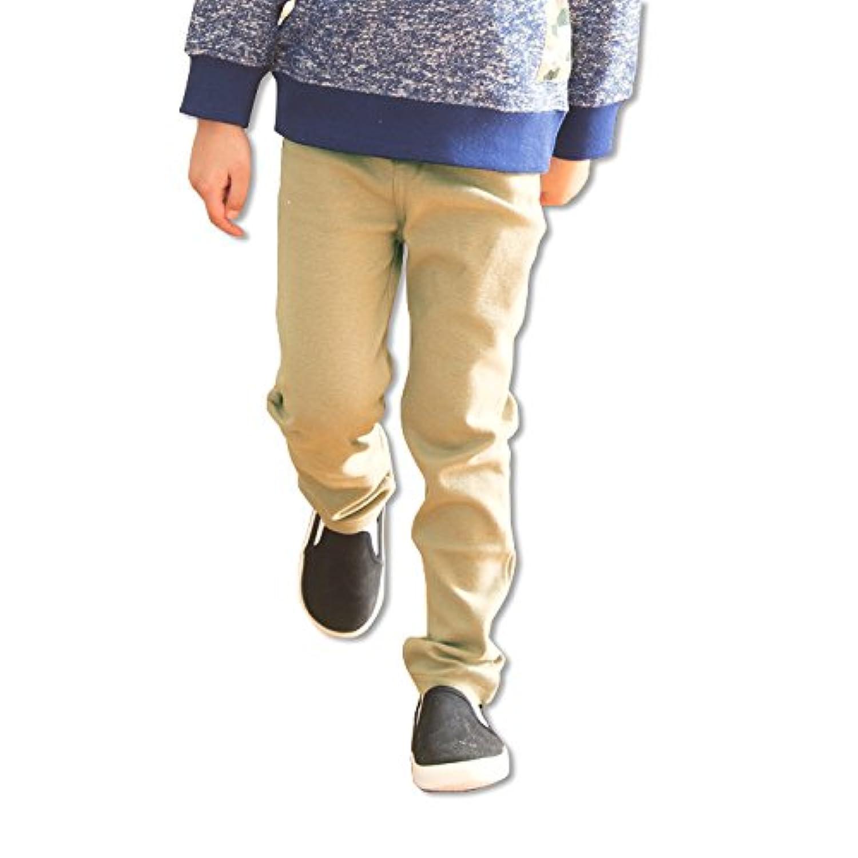 キッズ パンツ ズボン ベビー 子供服 ストレッチ ニット カラバリ ポケット お名前ネーム付 男の子 女の子 ボトムス ベージュ 120cm 65480409BE120
