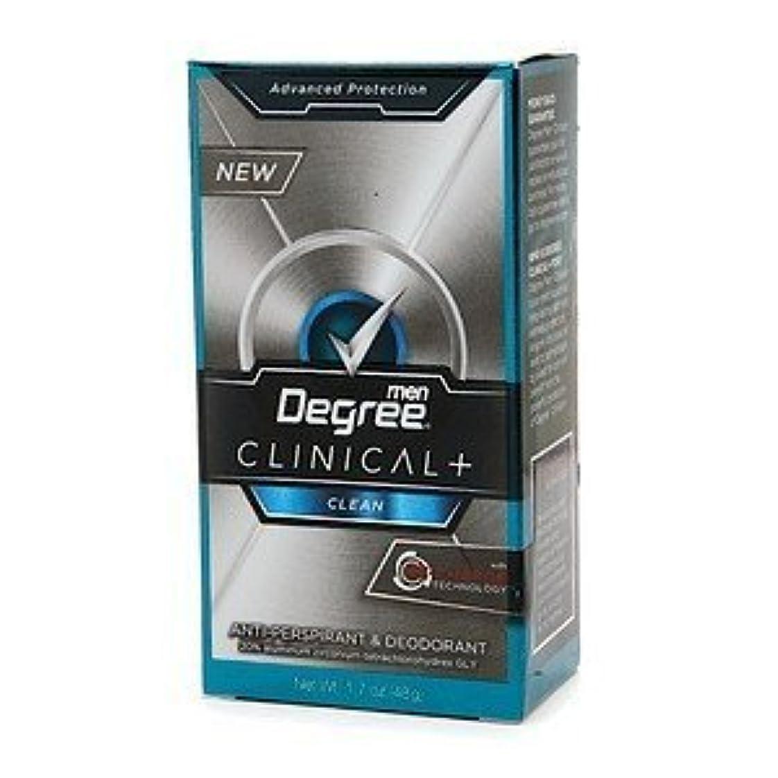 批評放射性同盟Degree Men Clinical+ Antiperspirant & Deodorant, Clean, 50g (Pack of 6) (並行輸入品)