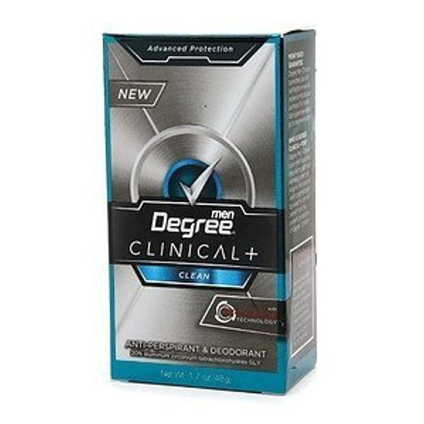 ジュニア自動女優Degree Men Clinical+ Antiperspirant & Deodorant, Clean, 50g (Pack of 6) (並行輸入品)