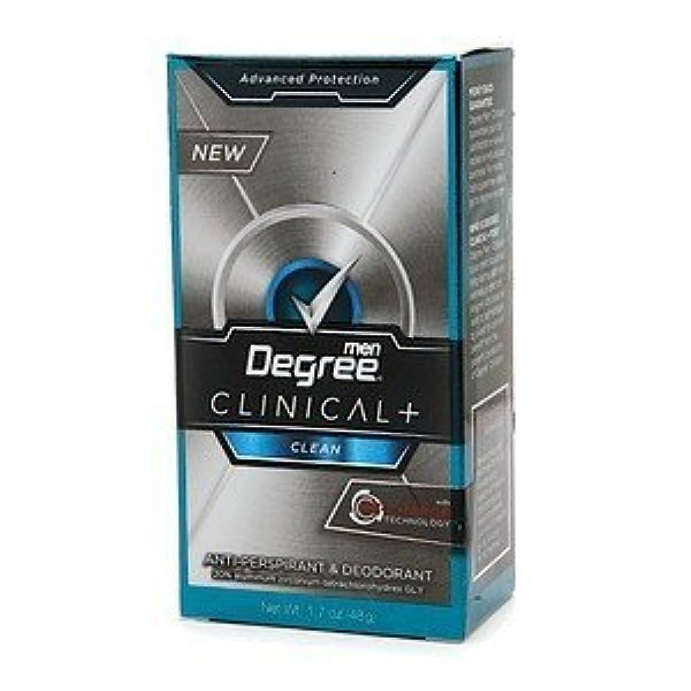 不平を言う不明瞭キウイDegree Men Clinical+ Antiperspirant & Deodorant, Clean, 50g (Pack of 6) (並行輸入品)