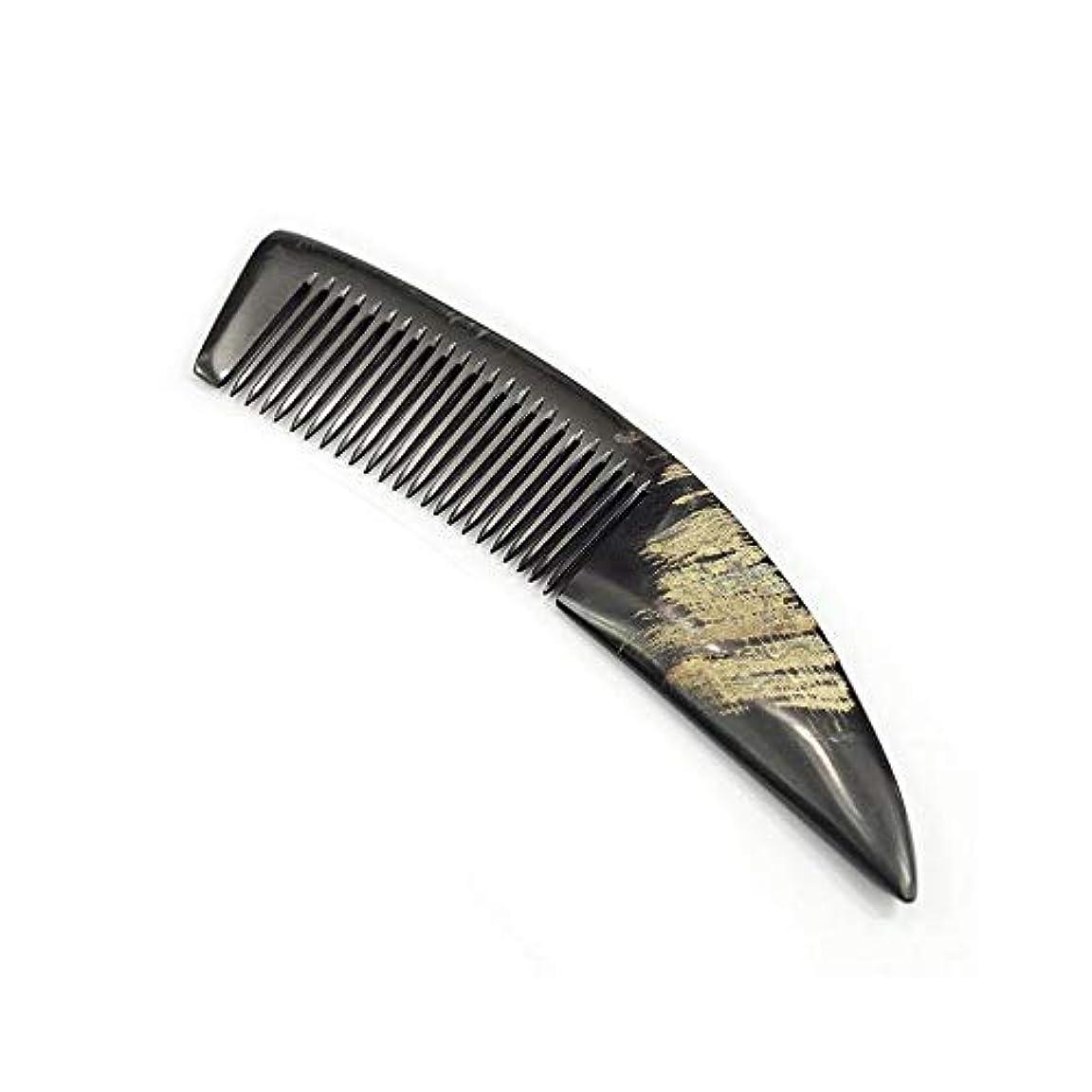 危険倉庫過敏なヘアコーム理髪くし バッファローホーンくしナチュラルスタイリング木製テールは、静電気防止コームハンドル ヘアスタイリングコーム