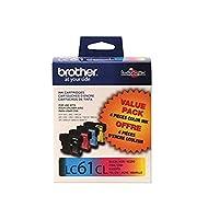 Brother LC61 Ink Cartridge ( Black,Cyan,Magenta,Yellow , 4-Pack ) [並行輸入品]