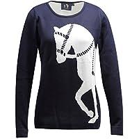 乗馬 ポロシャツ Tシャツ ティーシャツ 乗馬用ウエア RONNER マリーナ ビックホース ニット 乗馬用品 馬具