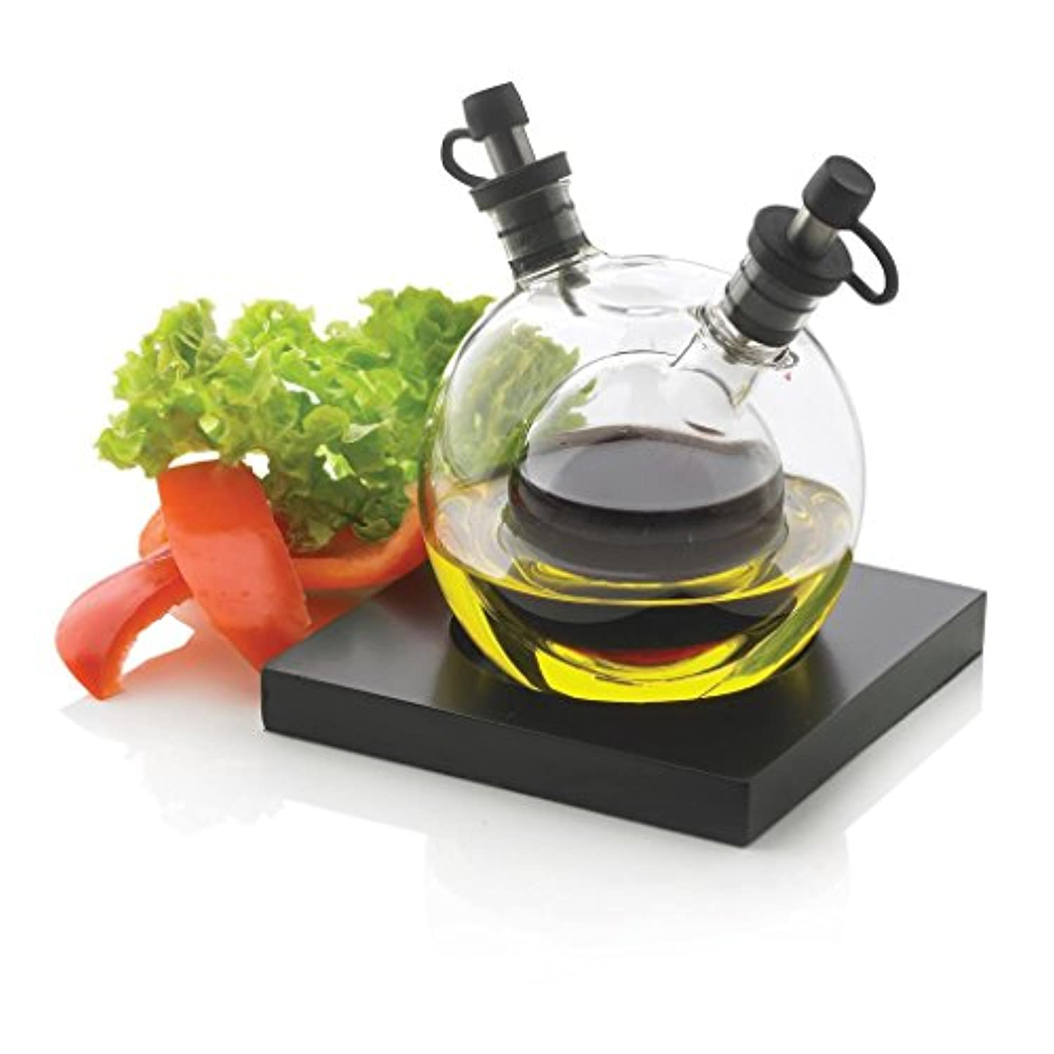 XD DESIGN Small Glass 5-Piece Orbit Oil and Vinegar Set, Transparent by XD DESIGN