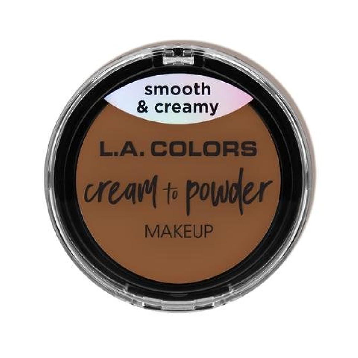 透ける下向きワット(3 Pack) L.A. COLORS Cream To Powder Foundation - Tan (並行輸入品)