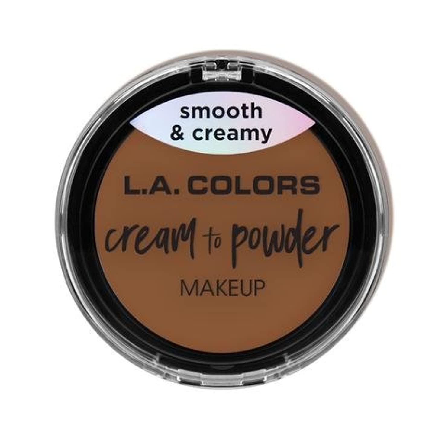 アレルギーペグ充電(3 Pack) L.A. COLORS Cream To Powder Foundation - Tan (並行輸入品)