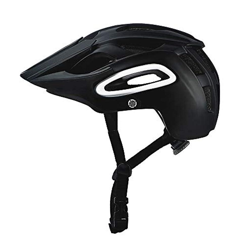 クリーナーなるガソリンTOMSSL高品質 マウンテンバイク男性と女性の乗馬用ヘルメットマウンテンフォレストオフロード深度保護安全通気性ヘルメット (色 : Black)