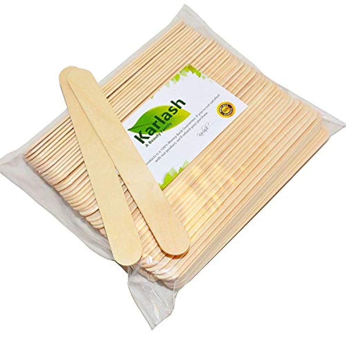 ホバーハード交流する100 Large Wax Waxing Wood Body Hair Removal Craft Sticks Applicator Spatula 141[並行輸入]
