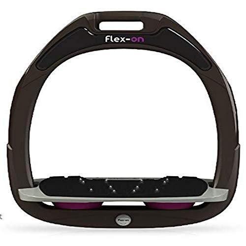 【Amazon.co.jp 限定】フレクソン(Flex-On) 鐙 グリーン COMPOSITE RANGE Mixed ultra-grip フレームカラー: ブラウン フットベッドカラー: グレー エラストマー: プラム 14789