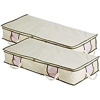 MISSLOLサイズの折り畳み式ベッド下用の収納袋、布団収納ケース、毛布収納袋。二個組み