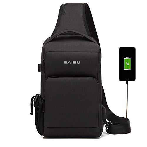 ショルダーバッグ ボディバッグ USB充電ポート 盗難防止用...