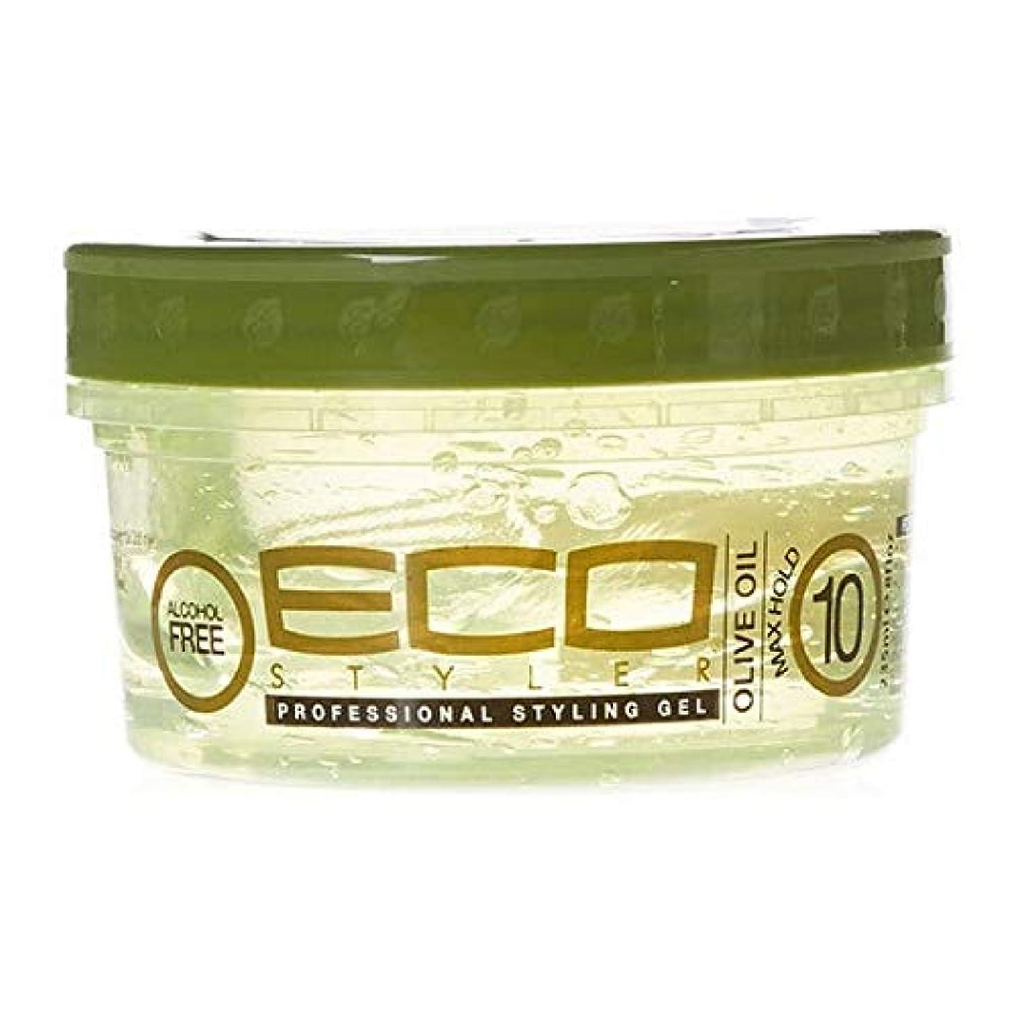 説得力のあるシール鉄[ECO STYLER ] エコスタイラオリーブ油スタイリングゲル236ミリリットル - ECO Styler Olive Oil Styling Gel 236ml [並行輸入品]