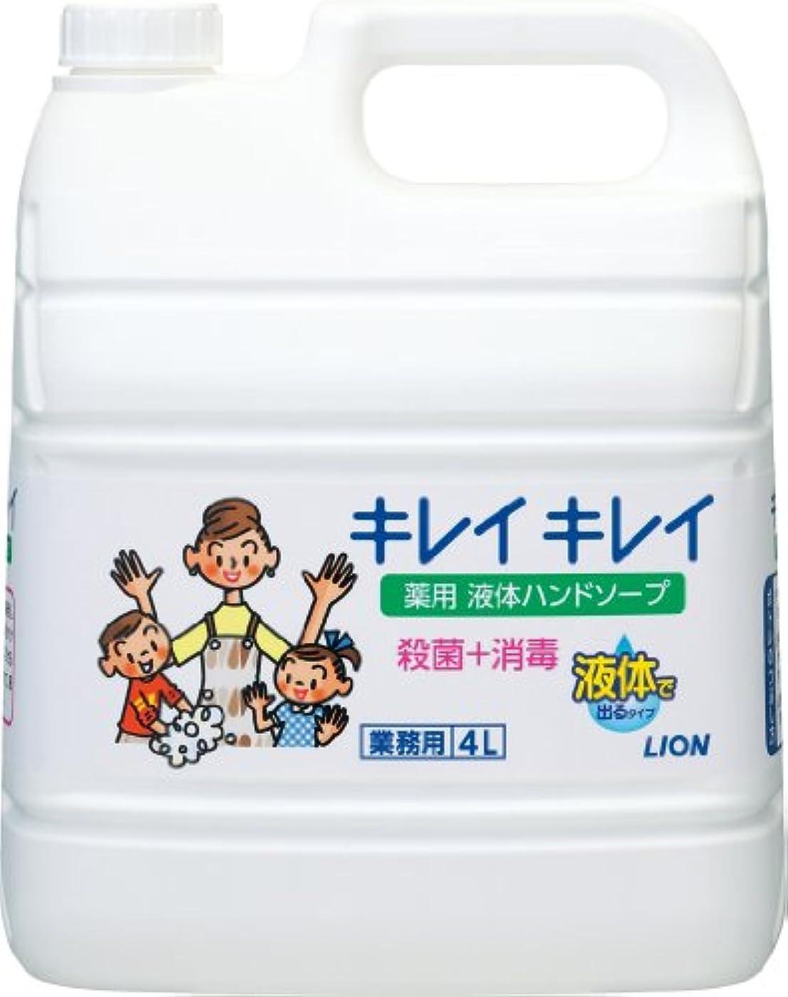 持ってるペナルティ争う【業務用 大容量】キレイキレイ 薬用 ハンドソープ  4L(医薬部外品)