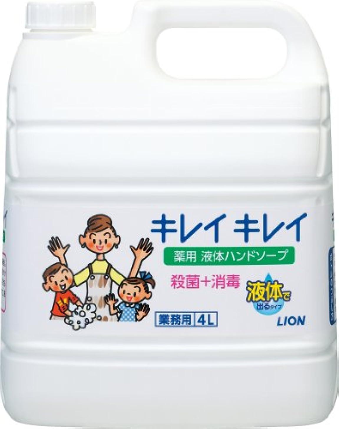 販売員端末定数【業務用 大容量】キレイキレイ 薬用 ハンドソープ  4L(医薬部外品)