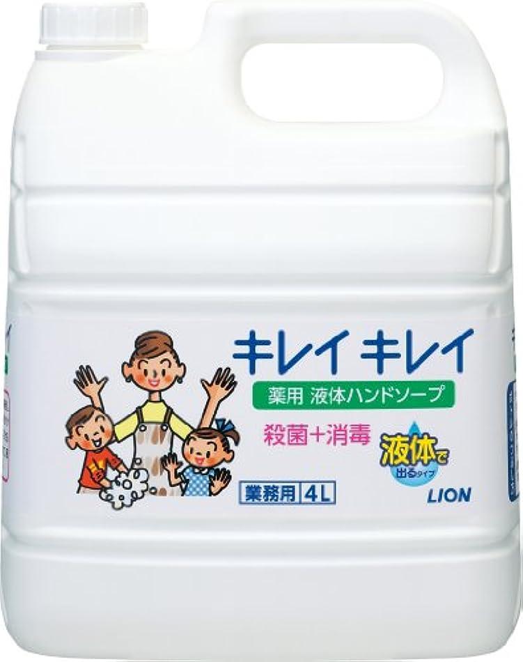 置くためにパック後方著作権【業務用 大容量】キレイキレイ 薬用 ハンドソープ  4L(医薬部外品)