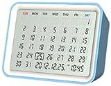 モトデザイン MONDO デジタルカレンダークロック(ブルー) DT06-BL