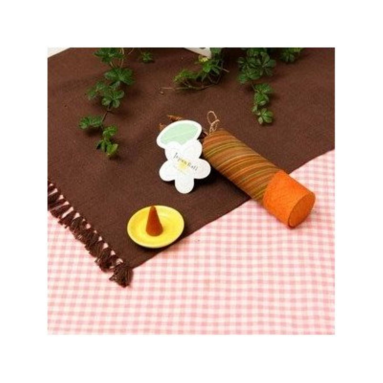 お香/インセンス 〔ホワイトローズの香り コーンタイプ10個入り〕 バリ島製 「Jupen Bari/ジュプンバリ」[通販用梱包品]