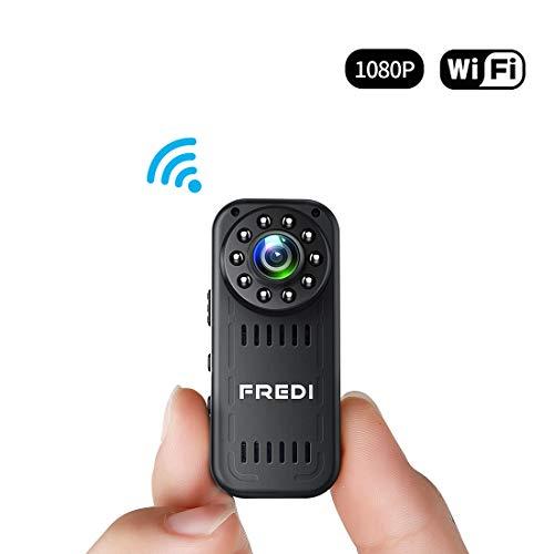 FREDI 超小型WiFi隠しカメラ 1080P超高画質防犯カメラ監視カメラ WiFi対応スパイカメ...