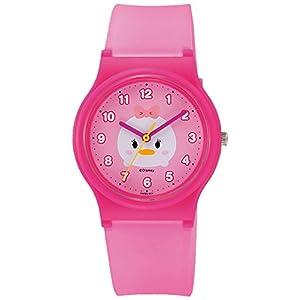 [シチズン キューアンドキュー]CITIZEN Q&Q 腕時計 Disney コレクション 『 TSUMTSUM 』 『 デイジーダック 』 ウレタンベルト ピンク HW00-004 ガールズ
