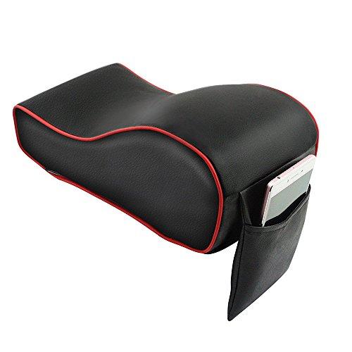 Toppdrtool アームレスト センターコンソール 高級 記憶フォーム 手置きクッション 肘置き コンソールパッド ポケット付き