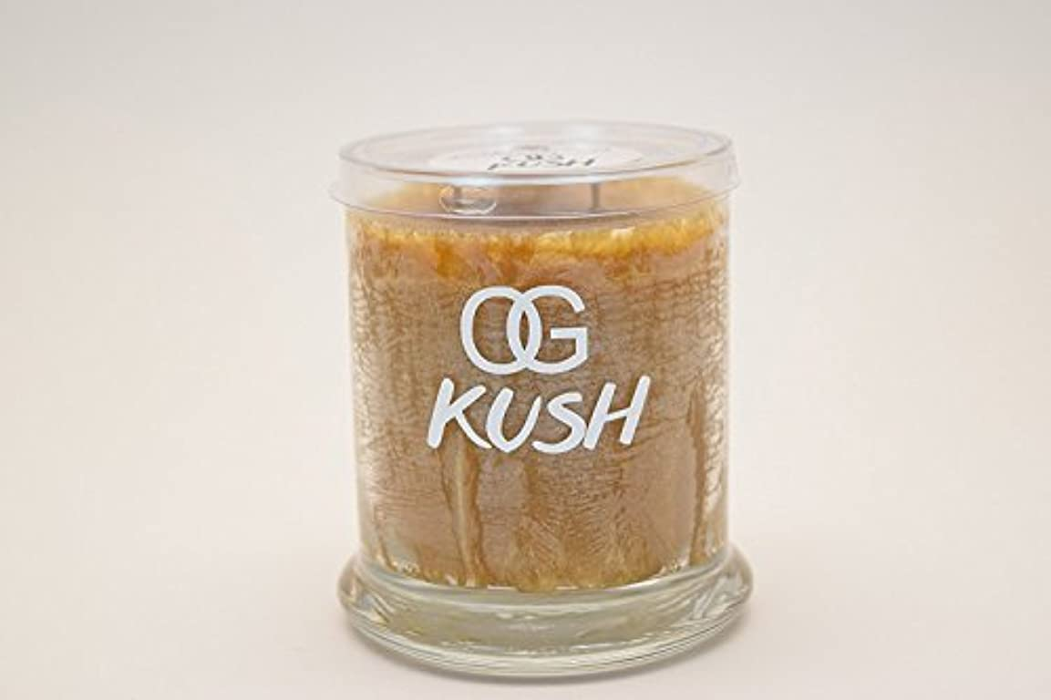 神経衰弱ポータブルOg Kush Scented Candle Regular、M、ジャンボ M OGKPALM10OZ