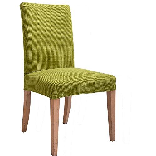 ILIJUN 1枚 4枚 セット 椅子カバー チェアカバー 伸縮素材 選べる 11色 (1枚, E)