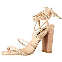 BILLINI Women's Orelia Strappy Block Heel, Hazelnut Suede, 9 AU