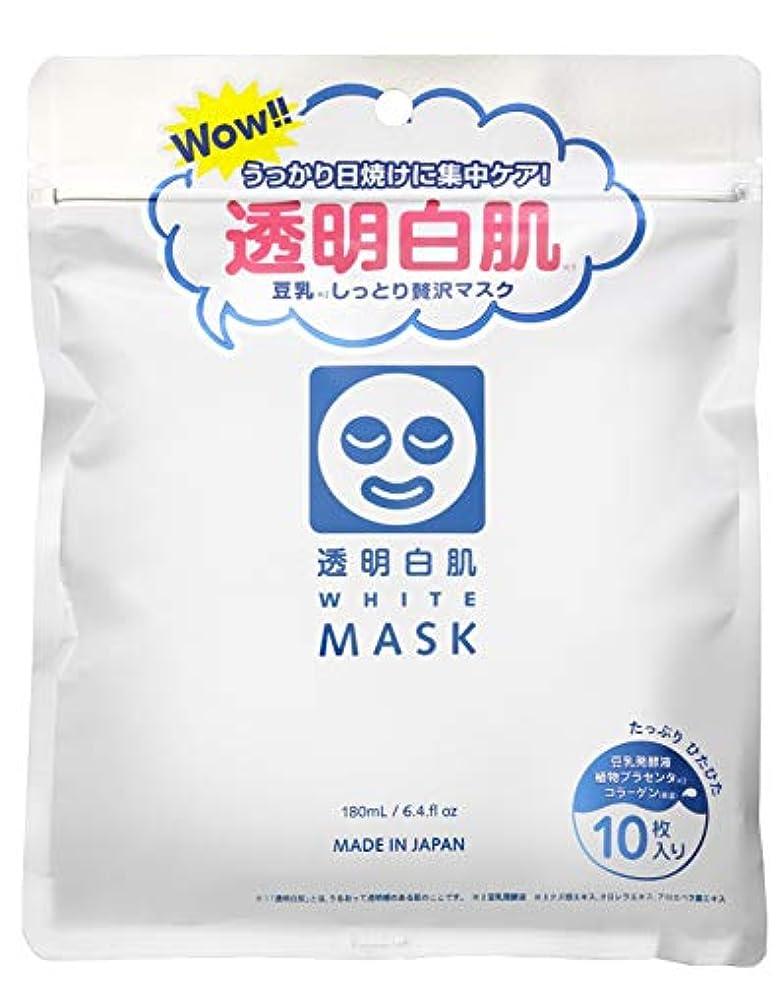 ラベ投資不純透明白肌 ホワイトマスクN
