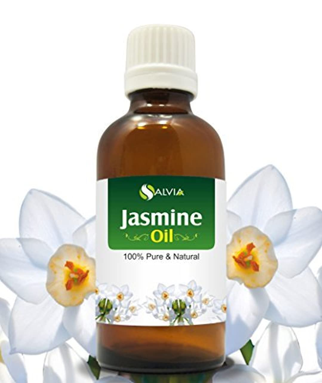 シールド差別牽引JASMINE OIL 100% NATURAL PURE UNDILUTED UNCUT ESSENTIAL OILS 30ml by SALVIA