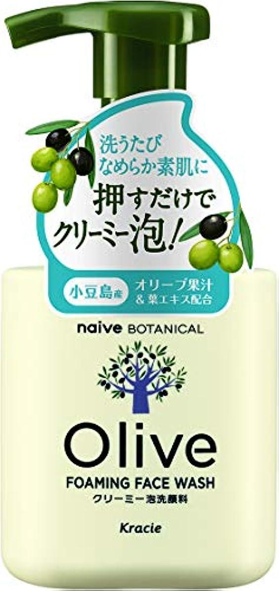 達成可能近所の軽食オリーブの恵み ナイーブ ボタニカル クリーミー泡洗顔料160mL